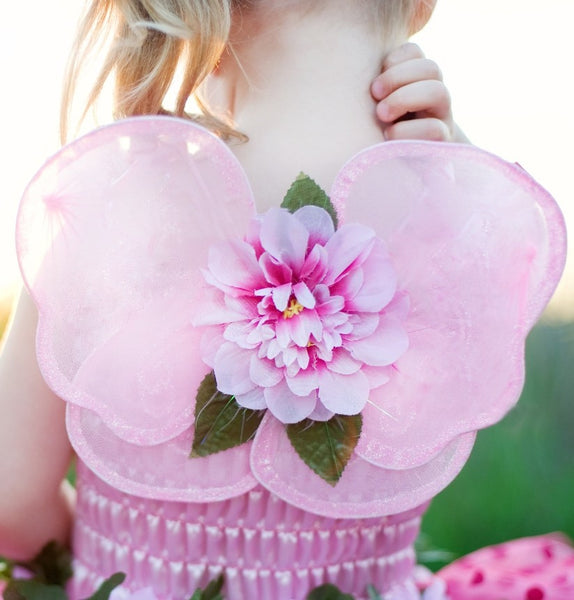 Great Pretenders Pink Blossom Wings in Tulle Bag - Toyabella.com