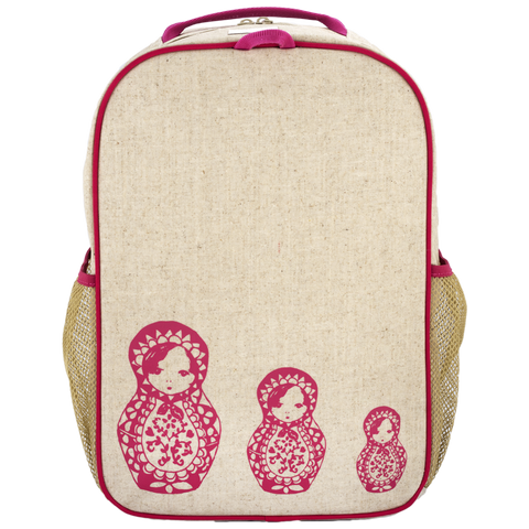 SoYoung Pink Russian Dolls Grade School Backpack - Toyabella.com