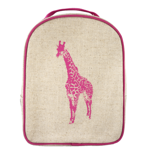 SoYoung Pink Giraffe Matching Lunchbox to Toddler Backpack - Toyabella.com