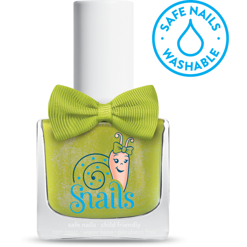 Prince Frog - Shiny GREEN Snails Nails Washable Polish - Toyabella.com