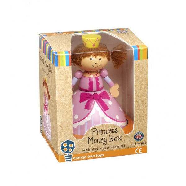 Handcrafted Wooden Princess Money Box By Orange Tree Toys - Toyabella.com