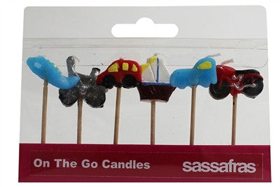 Sassafras On The Go Party Candles (6) - Toyabella.com