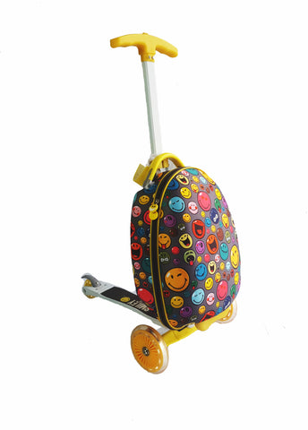 Smiley Scootie 16-inch Children's Scooter Luggage - Toyabella.com