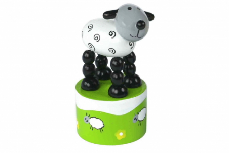 Sheep Push Up Toy by Orange Tree Toys - Toyabella.com