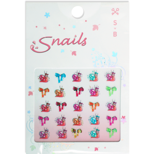 Stickers for Nails - Smiley Snails - Snail Nails - Toyabella.com