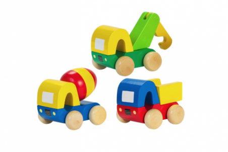 Set of Three First Trucks by Orange Tree Toys - Toyabella.com