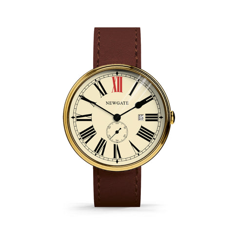 Newgate Watches THE SHIP (BRASS CASE, BROWN STRAP) - Toyabella  - 1