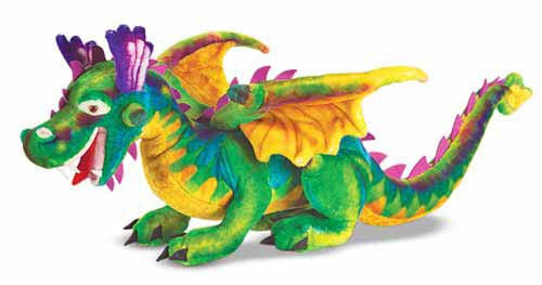 Melissa & Doug Dragon Giant Stuffed Animal - Toyabella  - 1