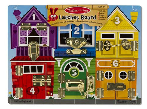 Melissa & Doug Deluxe Latches Board - Toyabella  - 1
