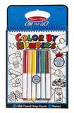 Melissa & Doug Color By Numbers Blue Coloring Book - ON the GO Travel Activity - Toyabella  - 1