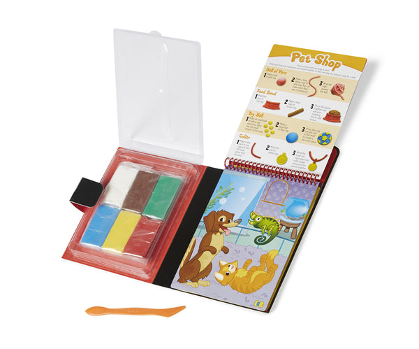 Melissa & Doug Clay Creations Book - ON the GO Craft Activity - Toyabella  - 2