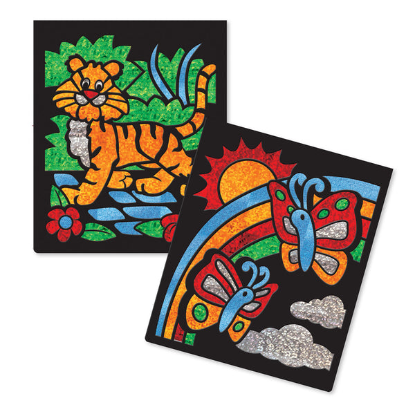 Melissa & Doug Animal Foil Art Book - ON the GO Craft Activity - Toyabella  - 2