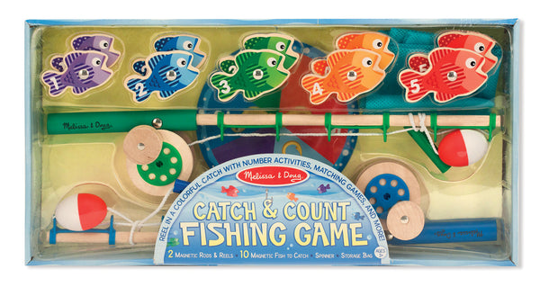 Melissa & Doug Catch and Count Magnetic Fishing Rod Game - Toyabella  - 1