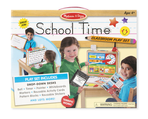 Melissa & Doug School Time! Classroom Play Set - Toyabella.com