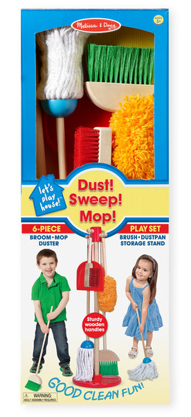 Melissa & Doug Let's Play House! Dust, Sweep, & Mop (Back In Stock) - Toyabella  - 2