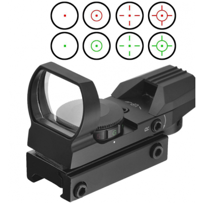 1x22x33 Red and Green Dot Sight Scope