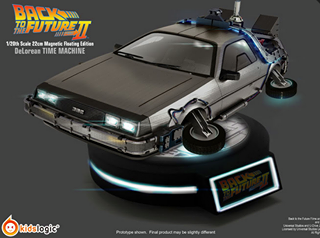 Back To The Future Part II - 1/20 Magnetic Floating DeLorean Time Machine Kid Logic