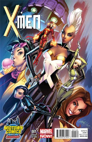 X-MEN VOL 4 #1 MIDTOWN EXCLUSIVE J SCOTT CAMPBELL VARIANT