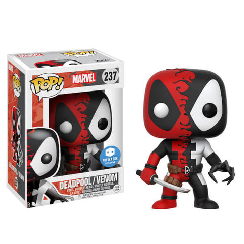 Funko pop marvel pop in a box exclusive DEADPOOL VENOM