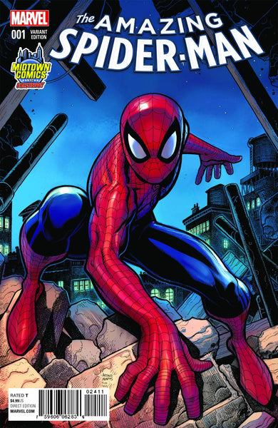 AMAZING SPIDER-MAN VOL. 4 #1 MIDTOWN EXCLUSIVE ARTHUR ADAMS VARIANT