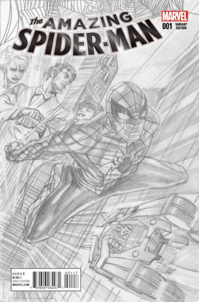 AMAZING SPIDER-MAN VOL. 4 #1 ALEX ROSS SKETCH VARIANT