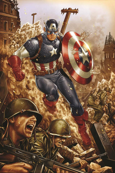 ALL-NEW ALL-DIFFERENT AVENGERS #4 MARK BROOKS CAPTAIN AMERICA 75TH ANNIVERSARY VARIANT