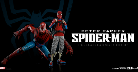 3A Spider-Man and Peter Parker Figures SET