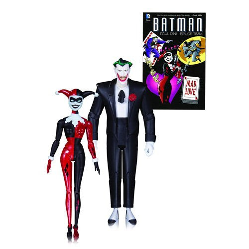 DC Collectibles Batman The Animated Series: Mad Love Joker and Harley Quinn Action Figure 2-Pack