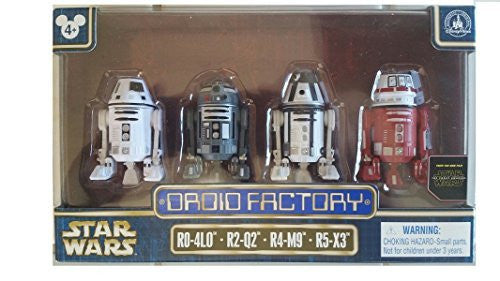 Star Wars The Force Awakens Droid Factory Figures 4-Pack (R0-4L0, R2-Q2, R4-M9 & R5-X3) Disney Parks Exclusive