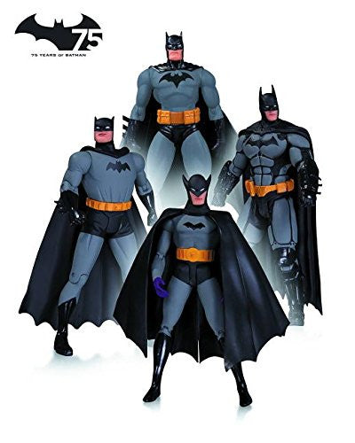 DC Collectibles Batman 75th Anniversary Action Figure 4-Pack Set A
