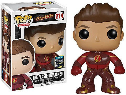 Funko Pop! Television #214 The Flash Unmasked Flash (2015 SDCC Exclusive)