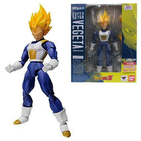 BANDAI Tamashii Nations S.H. Figuarts Super Saiyan Vegeta Premium Color Edition Action Figure