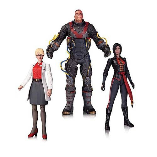 DC Collectibles Batman Arkham Origins: Electrocutioner, Harleen Quinzel, and Lady Shiva Action Figure 3-Pack