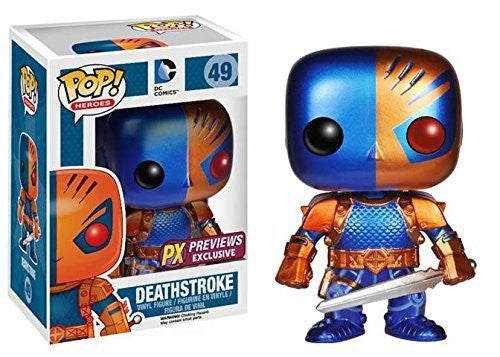 Funko Pop DC Heroes: Deathstroke Vinyl Figure (Metallic Version)