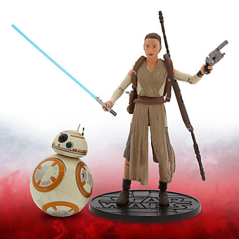 Rey and BB-8 Elite Series Die Cast Action Figures - 6'' - Star Wars: The Force Awakens Disney