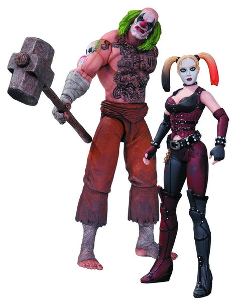DC Collectibles Batman Arkham City: Mr. Hammer and Harley Quinn Action Figure, 2-Pack