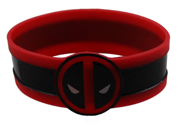 Marvel Comics Extreme Deadpool Face Rubber Wristband