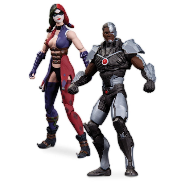 DC Collectibles Injustice: Cyborg vs. Harley Quinn Action Figure (2-Pack)