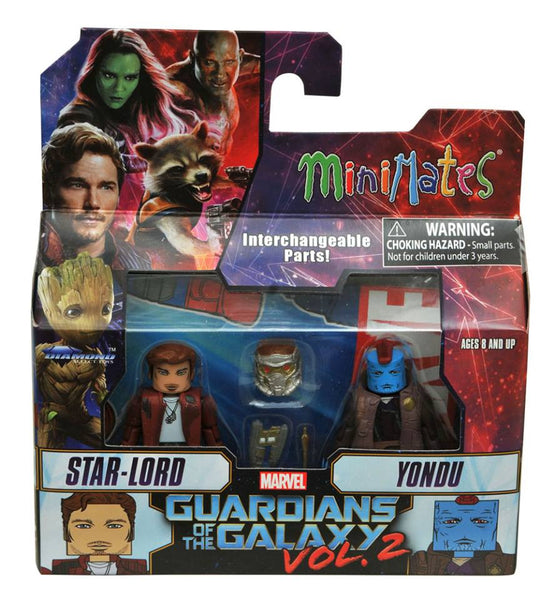 Diamond marvel select minimates guardians of the galaxy star lord and yondu