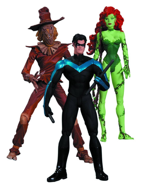 DC Collectibles: Hush Scarecrow, Nightwing and Poison Ivy Action Figure, 3-Pack