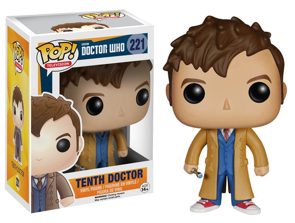 Pre Order  Funko 4627 POP TV: Doctor Who Dr #10 Action Figure