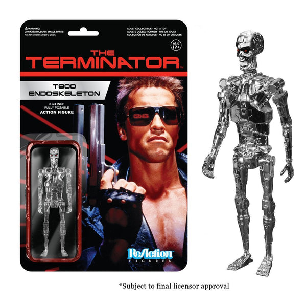 Funko The Terminator Chrome T-800 Endoskeleton ReAction Figure
