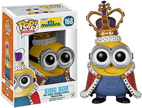 Funko POP Movies: Minions Figure, Minion King