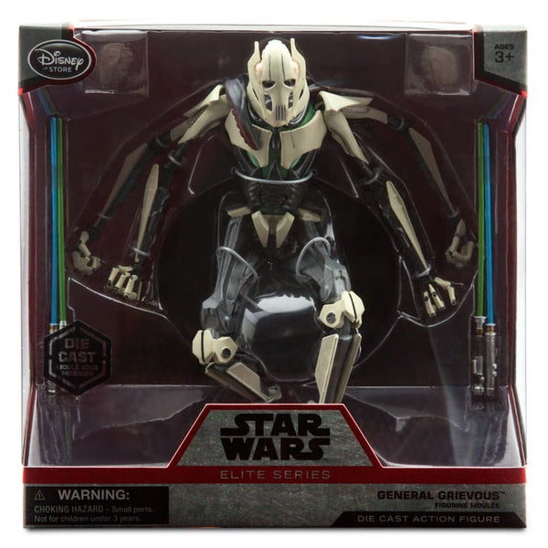 "Disney Exclusive Star Wars Elite 6"" Metal General Grievous Die Cast"