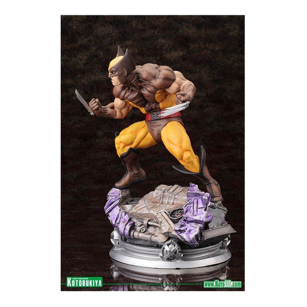 Kotobukiya Marvel Comics Wolverine (Brown Costume Version) Danger Room Sessions Fine Art Statue