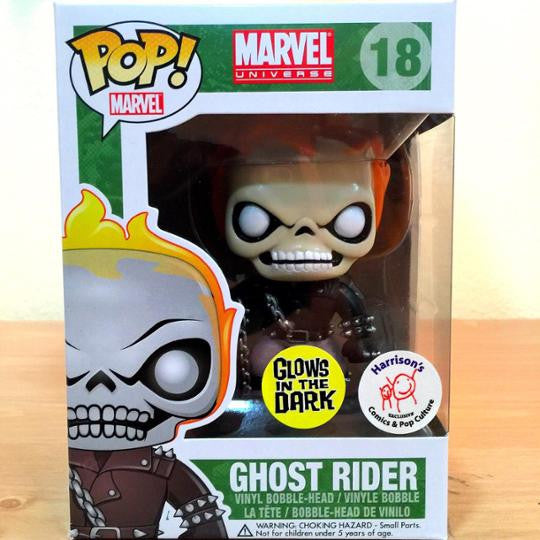 Funko Pop Ghost Rider Glow In The Dark Excluisve Atomic
