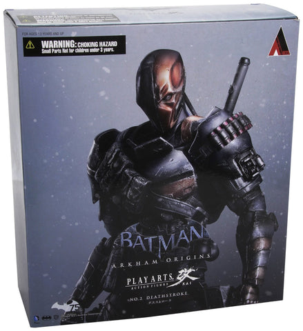 "Square Enix Play Arts Kai Deathstroke ""Arkham Origins"" Action Figure"