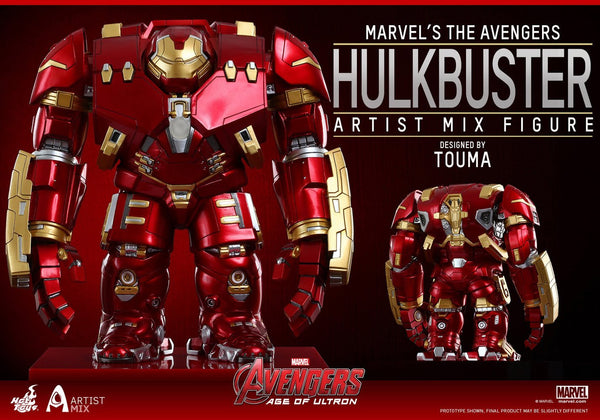 "Marvel Avengers Age of Ultron Artist Mix Figure Series 1 Hulkbuster 8"" Action Figure"