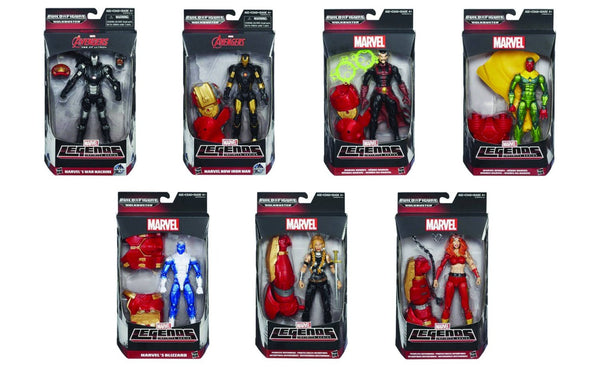 Avengers Marvel Legends Iron Man, Blizzard, War Machine and More Action Figures Wave 3 Set of 7