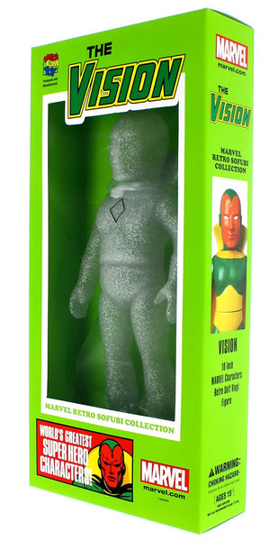 "SDCC 2015 MARVEL HERO SOFUBI VISION PX CLEAR 10"" FIGURE a"